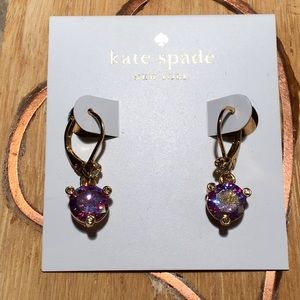 Kate Spade Rise & Shine Purple Lever-back Earrings